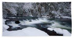 Little Fall Creek Winter Bath Towel