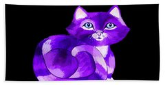 Little Purple Cat Bath Towel