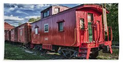 Little Red Caboose Bath Towel