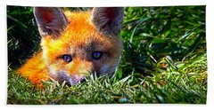 Little Red Fox Bath Towel