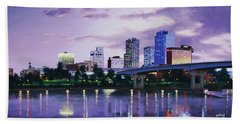 Little Rock Skyline Bath Towel