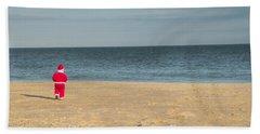 Little Santa On The Beach Hand Towel