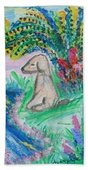 Little Sweet Pea Hand Towel by Diane Pape