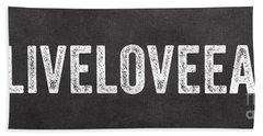 Live Love Eat Hand Towel