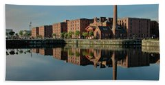 Liverpool Canning Docks Hand Towel by Jonah  Anderson