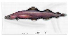 Living Fossil Eel - Protoanguilla Palau Hand Towel