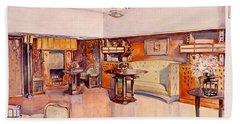 Living Room, 1905 Bath Towel
