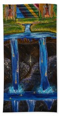Hand Towel featuring the painting Living Water by Cassie Sears
