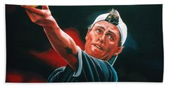 Lleyton Hewitt 2  Hand Towel by Paul Meijering