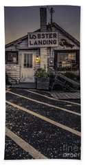 Lobster Landing Shack Restaurant At Sunset Hand Towel