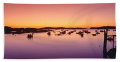 Lobster Village At Sunrise, Stonington Hand Towel