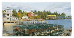 Lobster Village In Autumn, Southwest Hand Towel