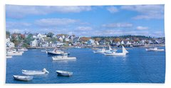 Lobster Village, Northeast Harbor Hand Towel