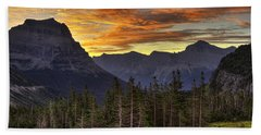 Logan Pass Sunrise Bath Towel