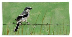 Loggerhead Shrike Bath Towel