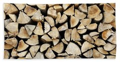 Logs Background Hand Towel