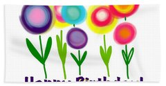 Hand Towel featuring the digital art Lollipop Flowers  by Christine Fournier