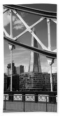 London Bridge With The Shard Hand Towel by Chevy Fleet