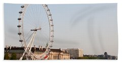 Bath Towel featuring the photograph London Eye Day by Matt Malloy