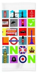 London Buses Bath Towels