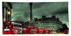 London Red Buses And Routemaster Hand Towel