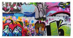 London Skate Park Abstract Bath Towel by Rona Black