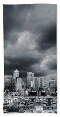 London Skyline 7 Hand Towel by Mark Rogan