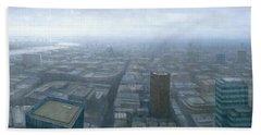 London Skyline Cityscape Hand Towel