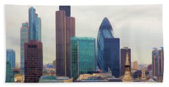 Bath Towel featuring the digital art London Skyline by Ron Harpham