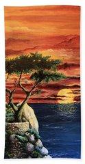 Lone Cypress Hand Towel