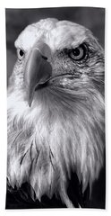 Hand Towel featuring the photograph Lone Eagle by Adam Olsen