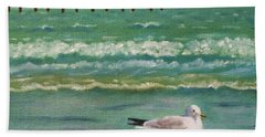 Lone Gull A-piers Bath Towel