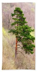 Hand Towel featuring the photograph Lone Pine by Les Palenik
