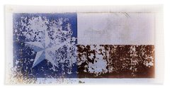 Hand Towel featuring the photograph Lone Star Flag Mural by Nadalyn Larsen