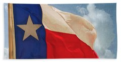 Lone Star Flag Bath Towel