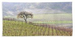 Lone Tree In The Vineyard Hand Towel