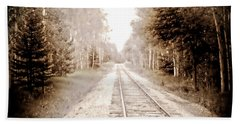 Lonely Railway Bath Towel