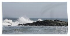 Hand Towel featuring the photograph Long Beach Jetty by John Telfer