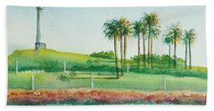 Long Beach Lighthouse Hand Towel