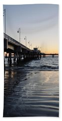 Hand Towel featuring the photograph Long Beach Pier by Kyle Hanson