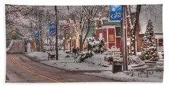 Long Grove In Snow Bath Towel by David Bearden