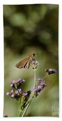 Long-winged Skipper Butterfly Bath Towel