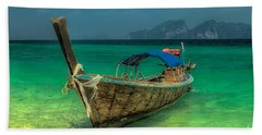Bath Towel featuring the photograph Longboat by Adrian Evans