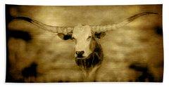 Longhorn Bull Bath Towel