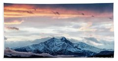 Longs Peak In Winter Hand Towel