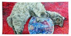 Lookin For Some Betta Kissin Bath Towel by Gail Butler