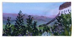 Looking Out From Top Of Jay Peak  Bath Towel by Donna Walsh
