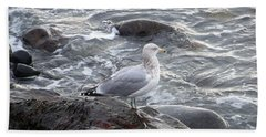 Bath Towel featuring the photograph Looking Out To Sea by Eunice Miller