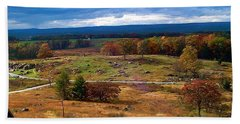 Hand Towel featuring the photograph Looking Over The Gettysburg Battlefield by Amazing Photographs AKA Christian Wilson