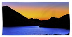 Looking Through The Quartz Mountains At Sunrise - Lake Altus - Oklahoma Hand Towel